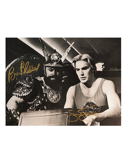 16x12 Flash Gordon Print Signed by Sam J Jones & Brian Blessed