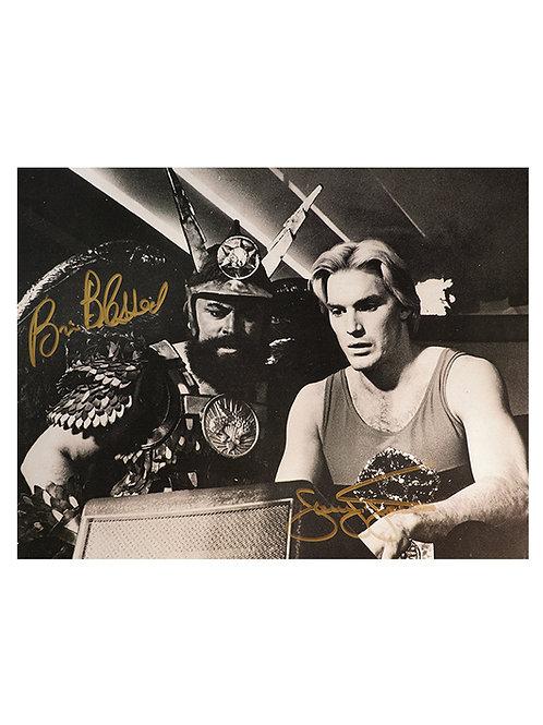 16x12 Flash Gordon Print Signed by Sam J Jones and Brian Blessed