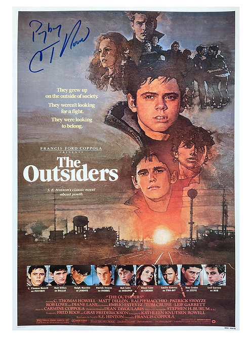 The Outsiders A3 Poster Signed by C. Thomas Howell