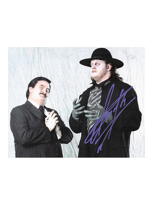 10x8 Print Signed by Wrestling Superstar Mark Calaway aka The Undertaker