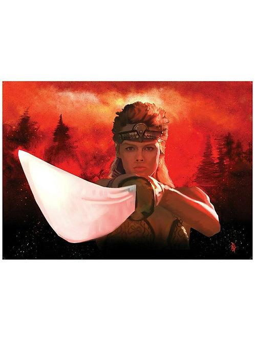 Ltd Ed. A2 Red Sonja Illustrated Brigitte Neilson Poster by Paul Butcher