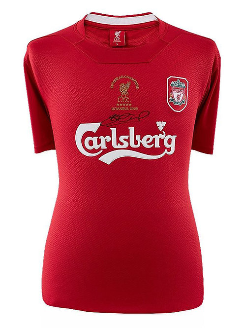 Istanbul Champions League Winners Liverpool Shirt Signed By Stephen Gerrard