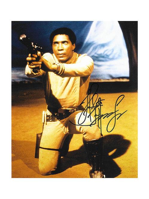8x10 Battlestar Galactica Print Signed by Herbert Jefferson Jr.