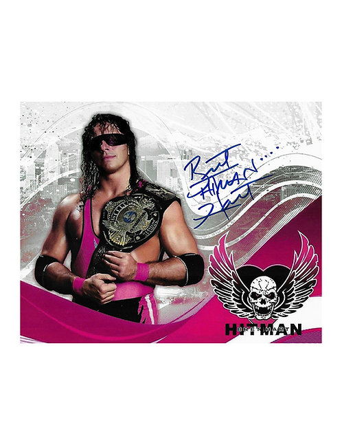 "10x8 Print Signed by Wrestling Superstar Bret ""Hitman"" Hart"