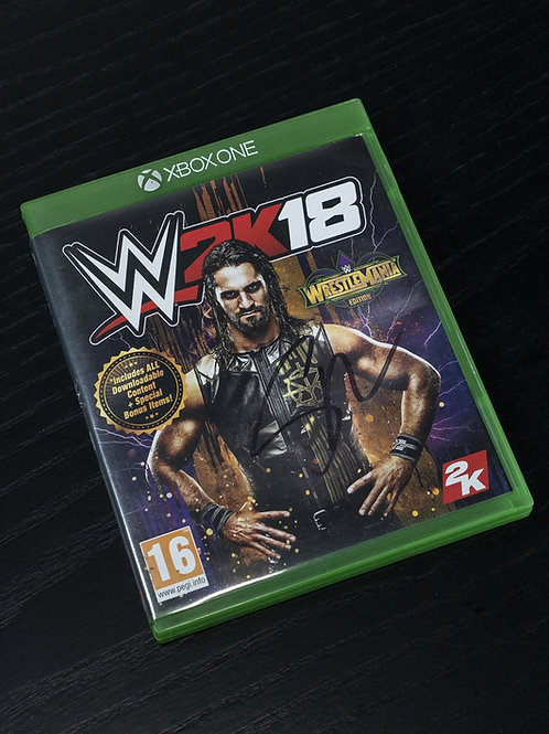 WWE 2K18 Xbox One Videogame Signed by Wrestling Superstar Seth Rollins