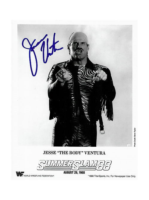 8x10 Print Signed by Wrestling Superstar Jesse Ventura