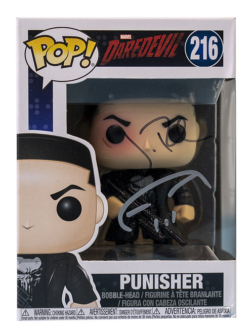The Punisher Packaged Funko Pop Figure Signed By Jon Bernthal