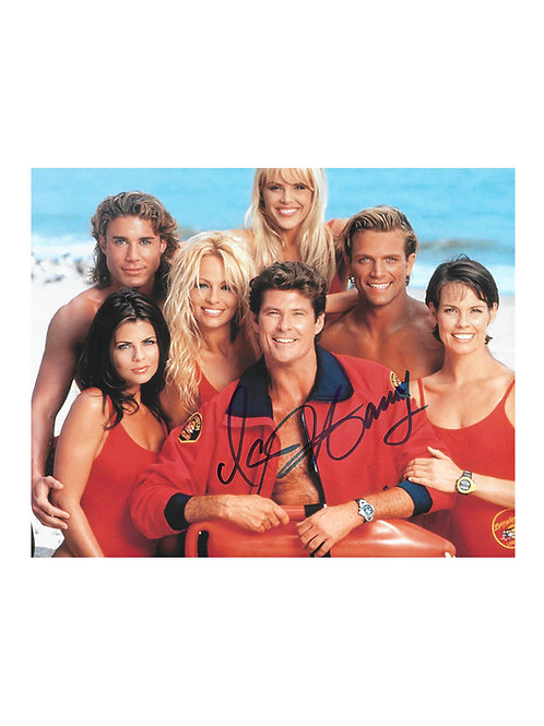 10x8 Baywatch Print Signed by David Hasselhoff