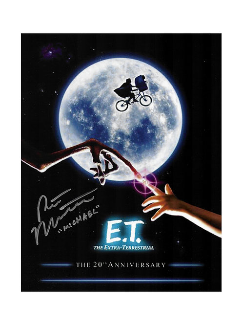 8x10 E.T. Poster Print Signed By Robert MacNaughton