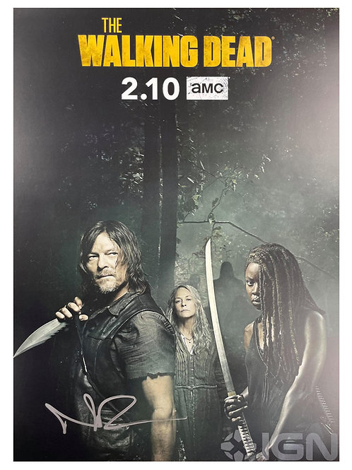The Walking Dead A3 Poster Signed by Norman Reedus