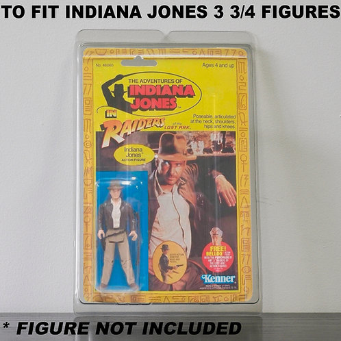 Protective Cases For Indiana Jones 3 3/4 Inch MOC Figures - Various Pack Sizes