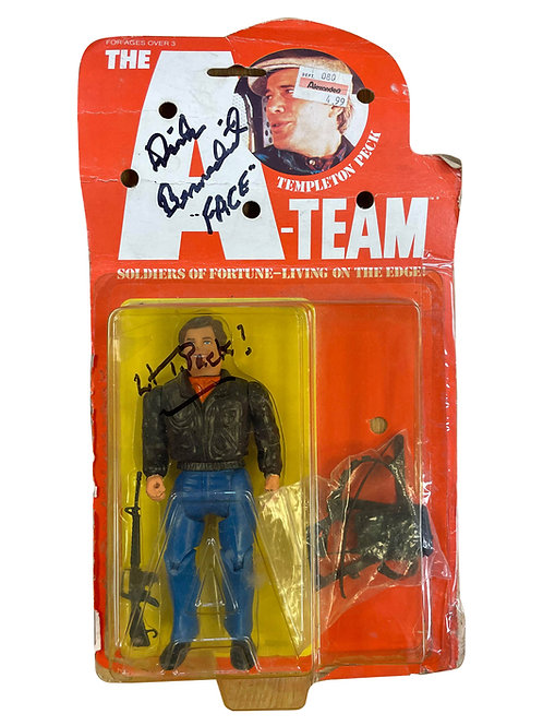 The A-Team Vintage Faceman Action Figure Signed by Dirk Benedict