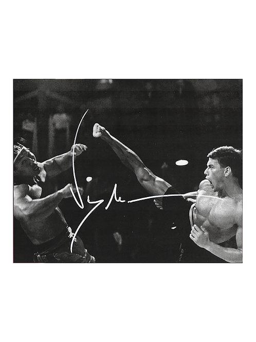 10x8 Bloodsport Print Signed by JCVD Jean-Claude Van Damme