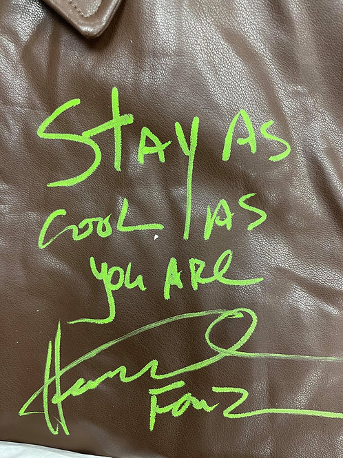 Stay As Cool As You Are Authentic Fonzie Leather Jacket Signed By Henry Winkler