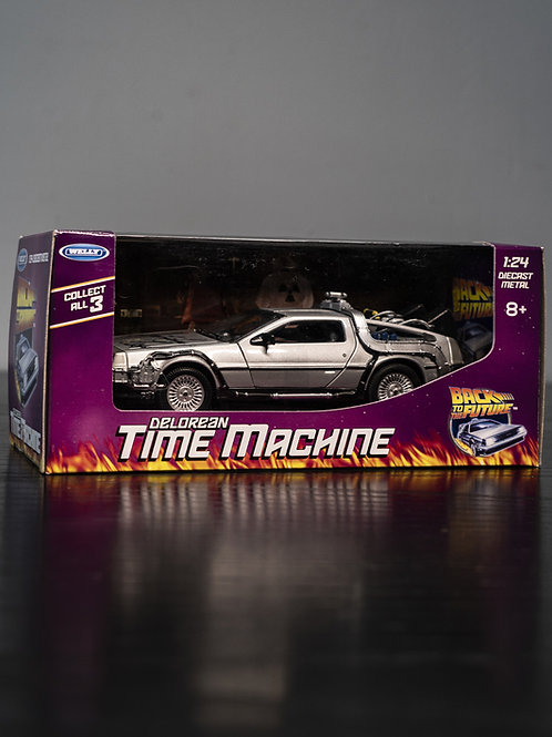Back To The Future Packaged DeLorean Model Car Signed By Christopher Lloyd