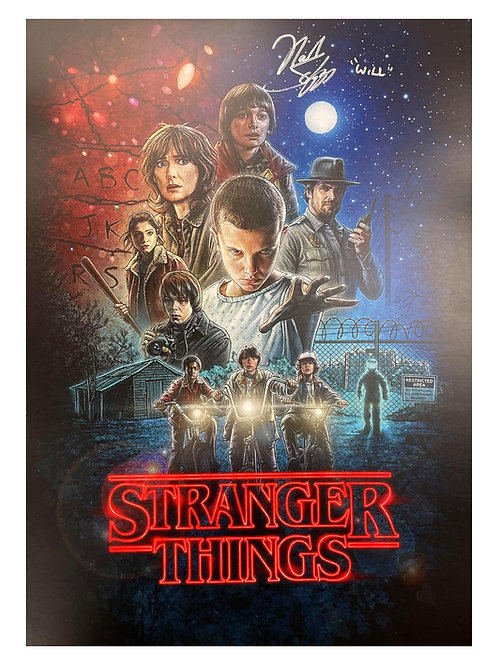 A3 Stranger Things S1 Poster Signed By Noah Schnapp