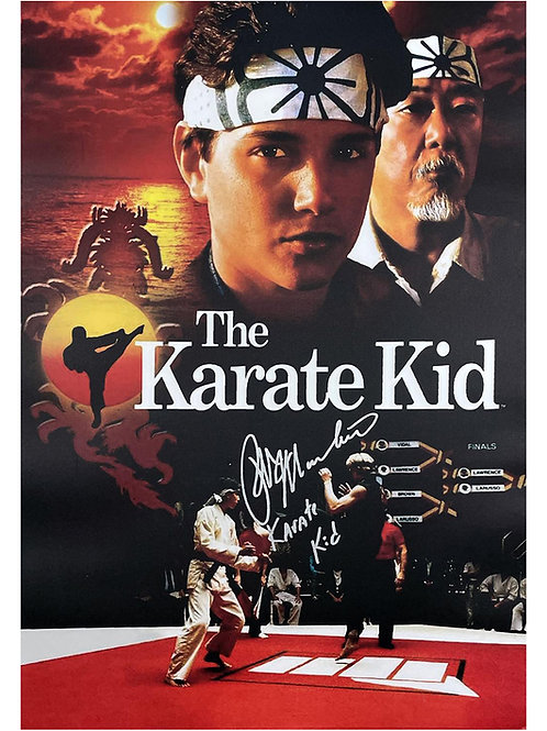 A2 Karate Kid Poster Signed by Ralph Macchio