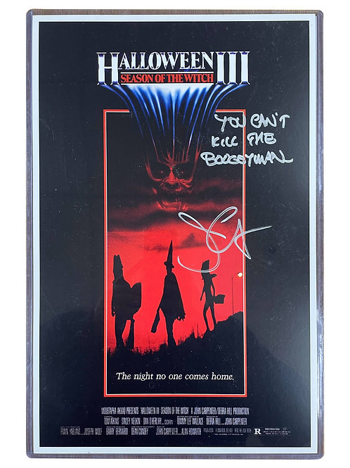 11x17 Halloween III Poster in Top Loader Signed by John Carpenter