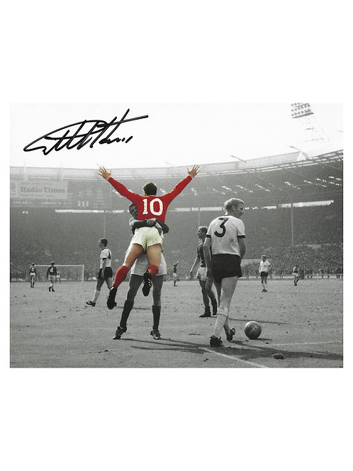 10x8 1966 World Cup Print Signed By Sir Geoff Hurst