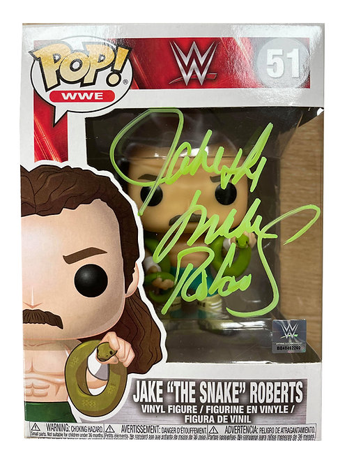 "Funko Pop Figure Signed by Wrestling Superstar Jake ""The Snake"" Roberts"