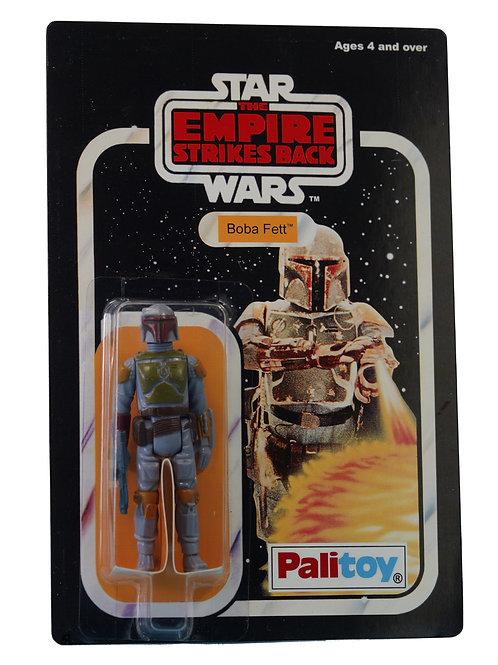 Vintage 1980 Star Wars ESB Boba Fett Figure On Replica 21-Back Card