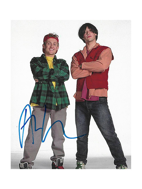8x10 Bill & Ted's Excellent Adventure Print Signed by Alex Winter