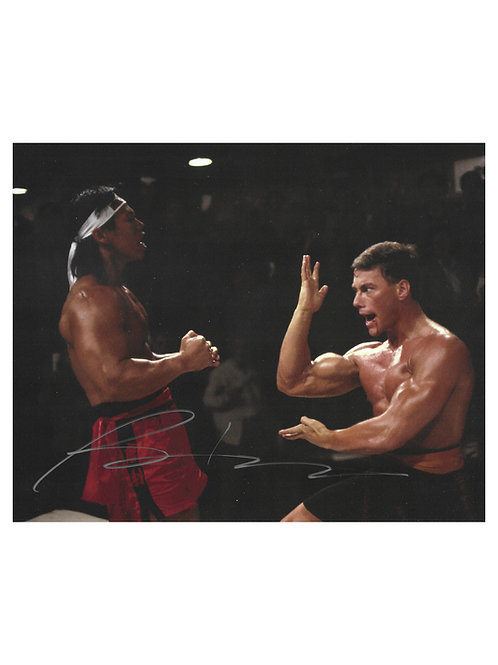 10x8 Bloodsport Print Signed In Silver by Bolo Yeung