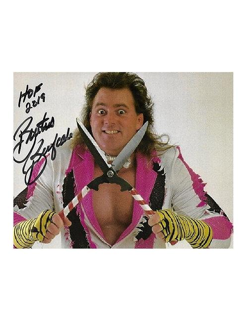 10x8 Print Signed by Wrestling Superstar Brutus Beefcake
