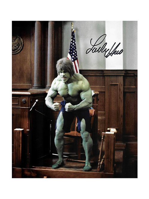 8x10 The Incredible Hulk Print Signed by Lou Ferrigno