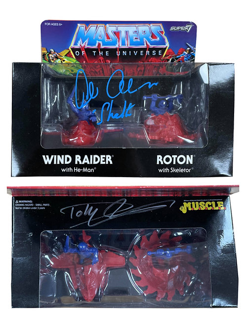 Super7 He-Man Vehicles Signed By Dolph Lundgren & Alan Oppenheimer