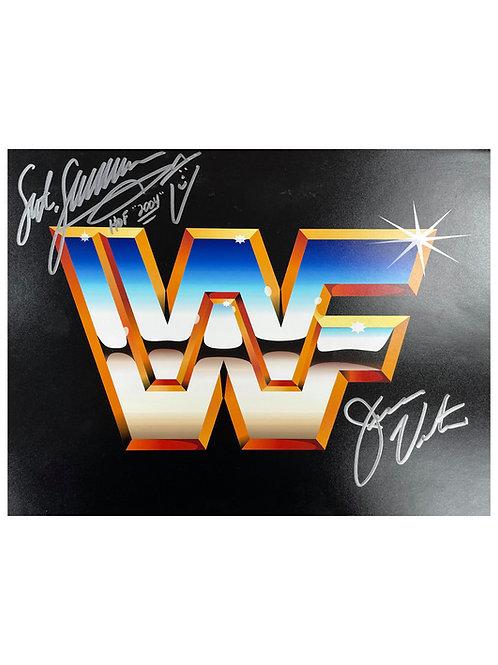 14x12 Print Signed by Wrestling Superstars Jesse Ventura & Sgt Slaughter