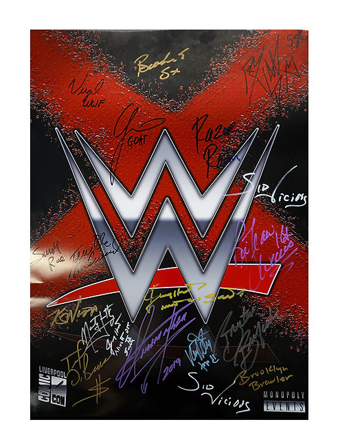 For The Love Of Wrestling A2 Poster With 18 Autographs Including The Undertaker
