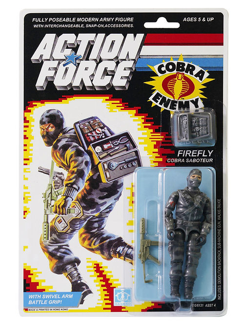 Action Force GI Joe Firefly Cobra Saboteur MOC Carded Custom