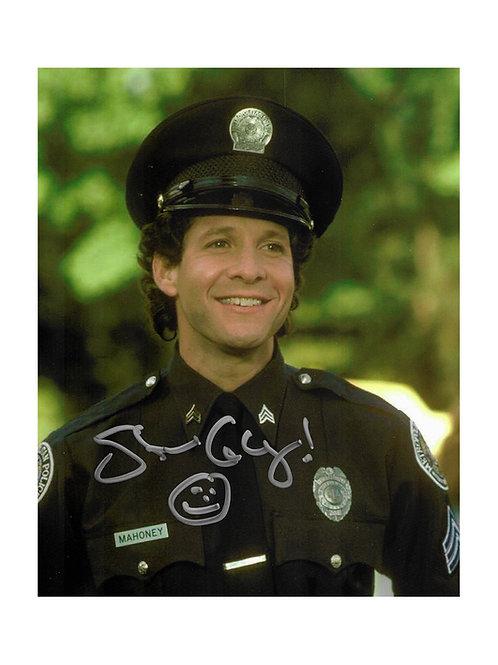 8x10 Police Academy Print Signed by Steve Guttenberg