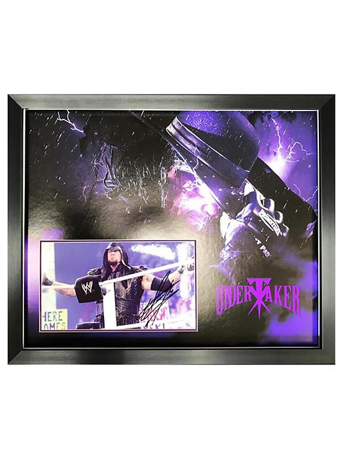 Framed Print Signed by Wrestling Superstar The Undertaker