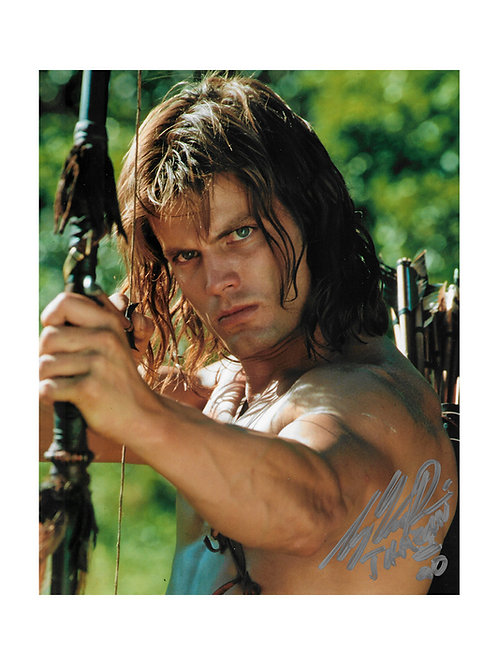 10x8 Tarzan and the Lost City Print Signed by Casper Van Dien