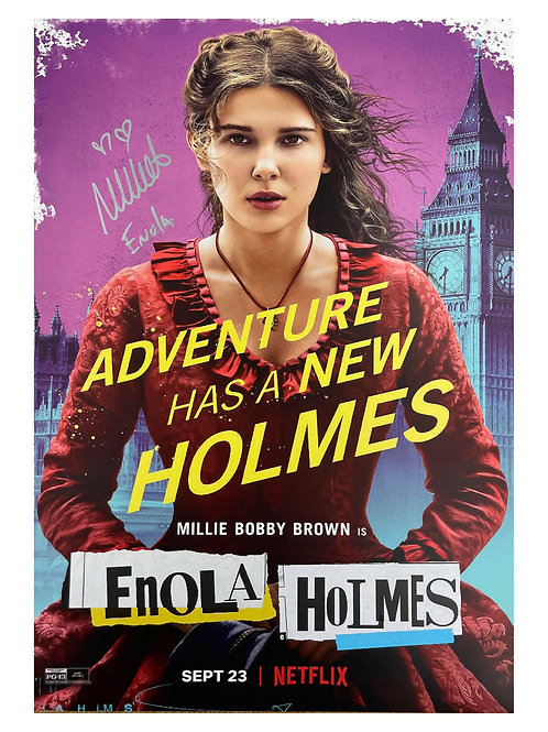 A3 Enola Holmes Poster Signed by Millie Bobby Brown
