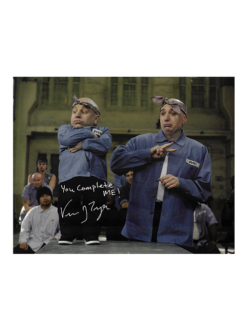 10x8 Austin Powers Print Signed by Verne Troyer