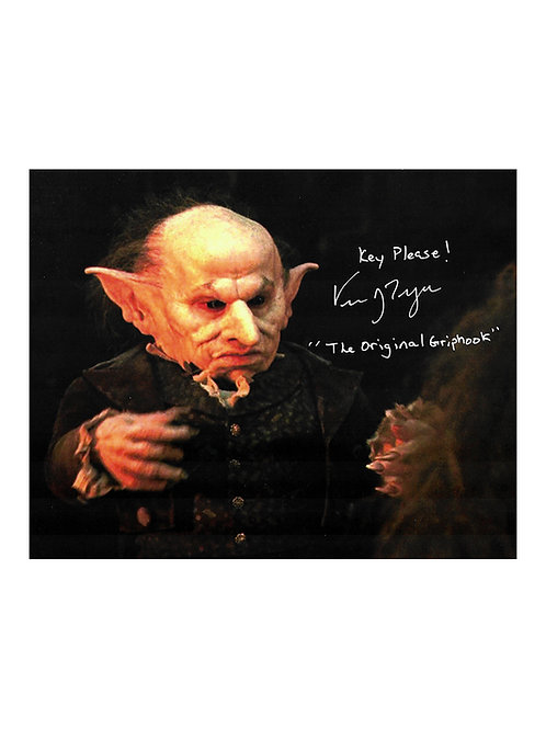 10x8 Harry Potter Print Signed by Verne Troyer