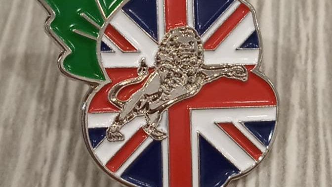 Union Jack Millwall Poppy Badge