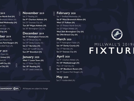 The Fixtures Are Released!!!