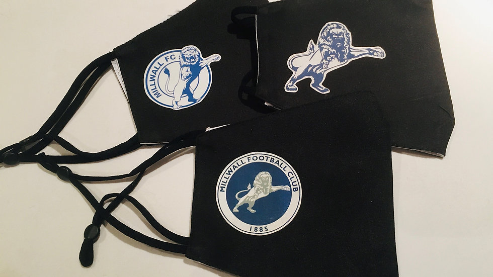 Millwall Re-useable Face Masks