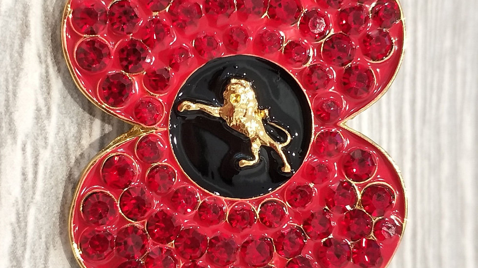 Millwall Crystal Poppy Lion