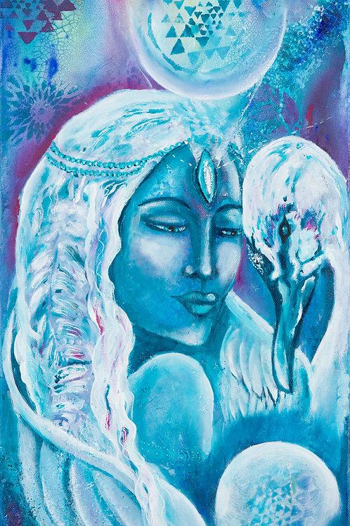 Lemurian Priestess and the Swan