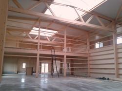 hangar industriel en bois nivelles