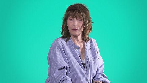 Jane Birkin speak about her learning French