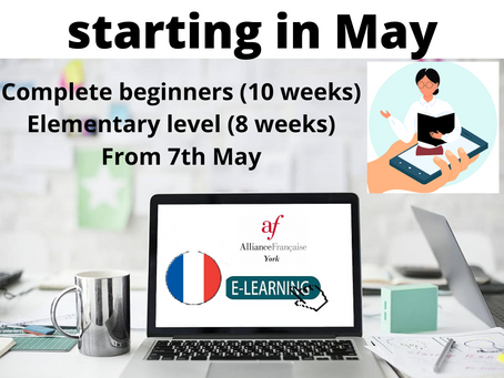 New courses starting in May 2021.