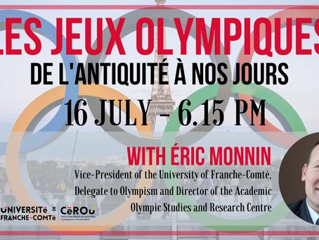 Les Jeux Olympiques, de l'Antiquité à nos jours : Conférences + Q&R