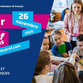 Le 26/11 - La journée internationale des professeurs de français 2020.