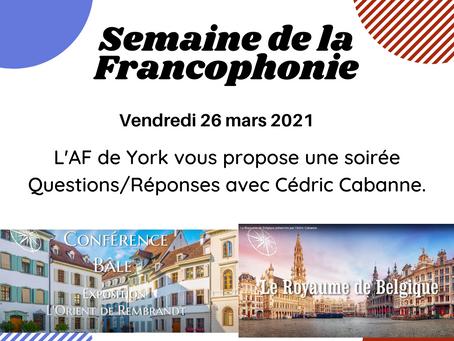 Soirée Questions/Réponses avec Cédric Cabanne